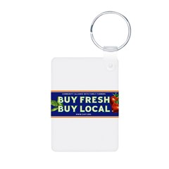 Buy Fresh Buy Local classic Aluminum Photo Keychain