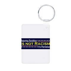 Rejecting Socialism Aluminum Photo Keychain