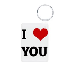 I Love YOU Aluminum Photo Keychain