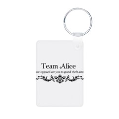 Team Alice Theft Aluminum Photo Keychain