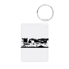 Lost Island White Aluminum Photo Keychain