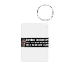 If we lose freedom here... Aluminum Photo Keychain