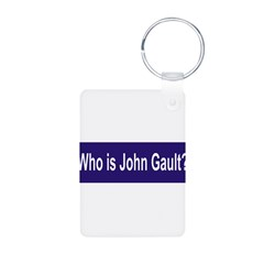Who is John Gault? Aluminum Photo Keychain