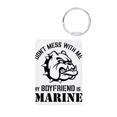 Marine Girlfriend Aluminum Photo Keychain