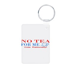 NO TEA FOR ME Aluminum Photo Keychain