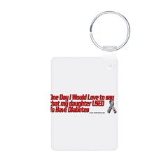 daughter used red Aluminum Photo Keychain