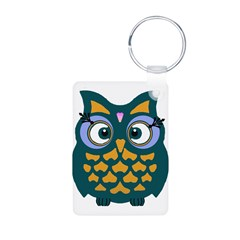Retro Owl Aluminum Photo Keychain
