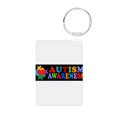 Autism Awareness Aluminum Photo Keychain
