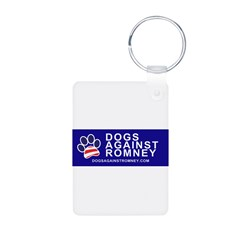 Official Dogs Against Romney Paw Aluminum Photo Keychain