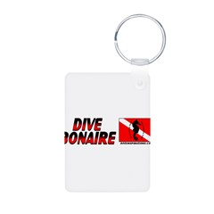 Dive Bonaire (red) Aluminum Photo Keychain