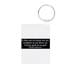 Jefferson religious tolerence Aluminum Photo Keychain