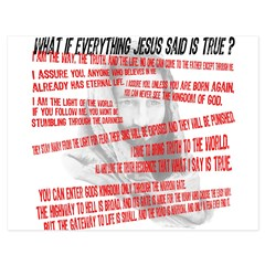 What if Jesus is truth.jpg 5.5 x 4.25 Flat Cards