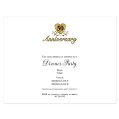 50th Anniversary 5.5 x 4.25 Flat Cards