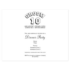 2010 Trophy Husband Groom 5.5 x 4.25 Flat Cards