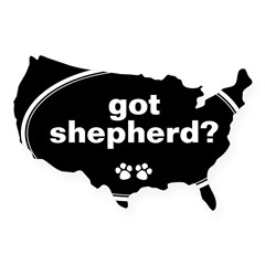 Got Shepherd? Oval USA Sticker
