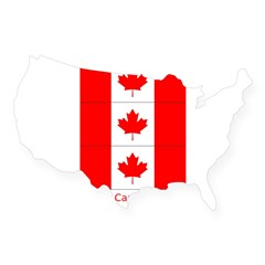 Flag of Canada Stickers 3pc USA Sticker