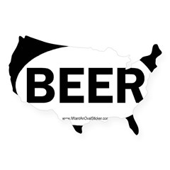 BEER Oval USA Sticker