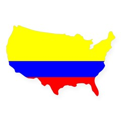 Colombia Flag Rectangle USA Sticker