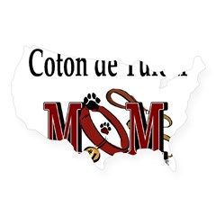 Coton de Tulear Mom Rectangle USA Sticker