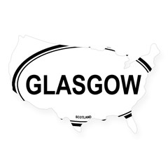 Glasgow, Scotland euro Oval USA Sticker
