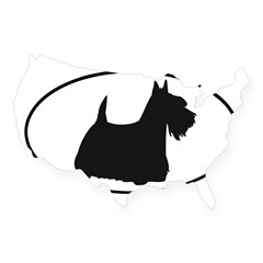 Scottish Terrier Oval USA Sticker