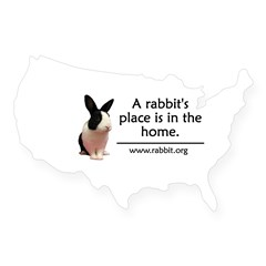 A rabbits place is in the hom Oval USA Sticker