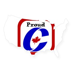 Proud Canadian Conservative Rectangle USA Sticker