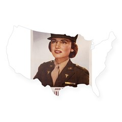 Army Nurse Corps Rectangle USA Sticker