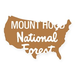 Mount Hood (Sign) National Fo Sticker (Rectangular USA Sticker