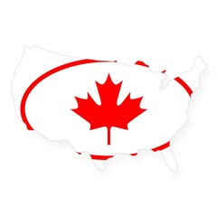 Canada Oval USA Sticker