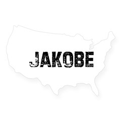 Jakobe Rectangle USA Sticker