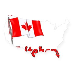 Canada Flag - Whitehorse Rectangle USA Sticker