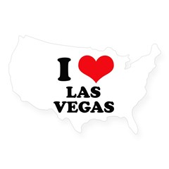 I Heart Las Vegas Rectangle USA Sticker