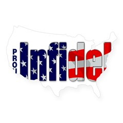 Proud Infidel Rectangle USA Sticker