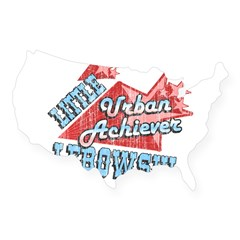 Lebowski Urban Achiever Rectangle USA Sticker