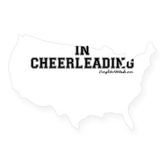 Majored In Cheerleading USA Sticker