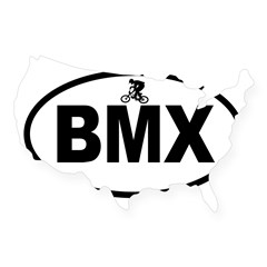 BMX Rider Oval USA Sticker