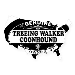 TREEING WALKER COONHOUND Oval USA Sticker