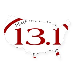 13.1 - Half the Distance Oval USA Sticker