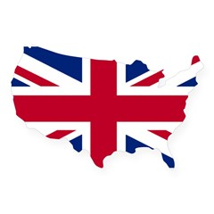 Union Jack Rectangle USA Sticker