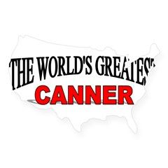 """The World's Greatest Canner"" Sticker (Rectangular USA Sticker"