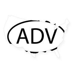 ADV Oval USA Sticker
