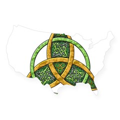 Celtic Trinity Knot Rectangle USA Sticker