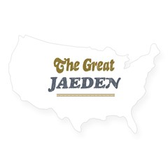 Jaeden Rectangle USA Sticker