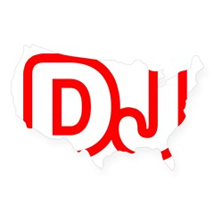 DJ Rectangle USA Sticker