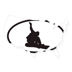 Snowboarding Euro Oval USA Sticker