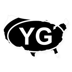 YG Oval USA Sticker