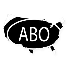 ABO Oval USA Sticker
