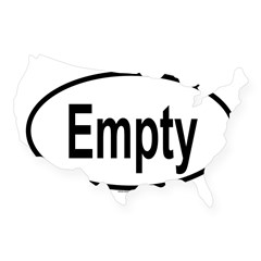 EMPTY Oval USA Sticker