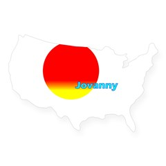 Jovanny Rectangle USA Sticker